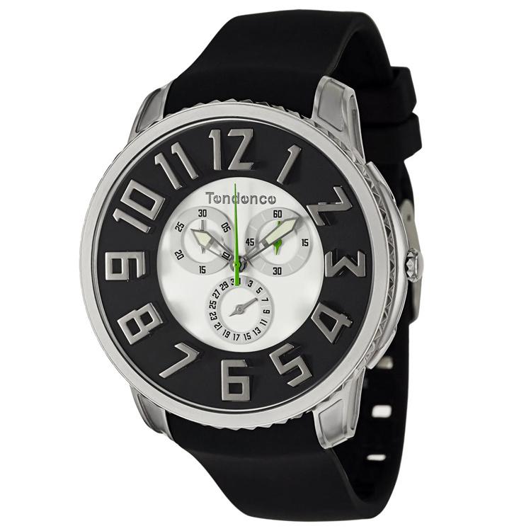 Tendence Gulliver Slim Chrono Horloge Black and White 10ATM XL