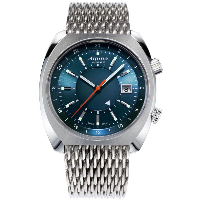 Alpina Startimer Pilot Heritage GMT Swiss Made Automatic Uhr 42mm