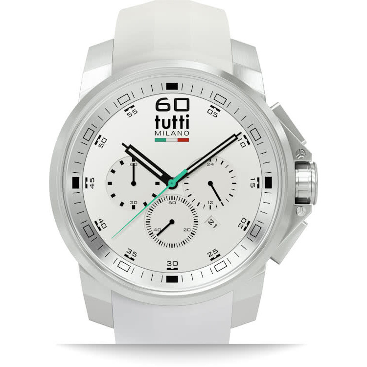 Tutti Milano Masso XL Chronograaf 48mm Staal/Wit