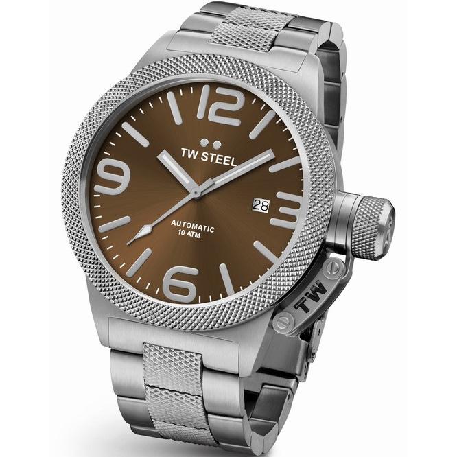 TW Steel CB26 Canteen Bracelet Automaat XL Horloge 50mm