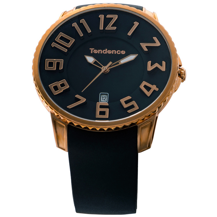 Tendence Gulliver Slim Horloge Rose Black 10ATM XL