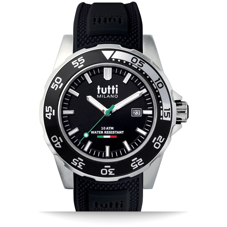 Tutti Milano Corallo Horloge Zwart Large 42mm