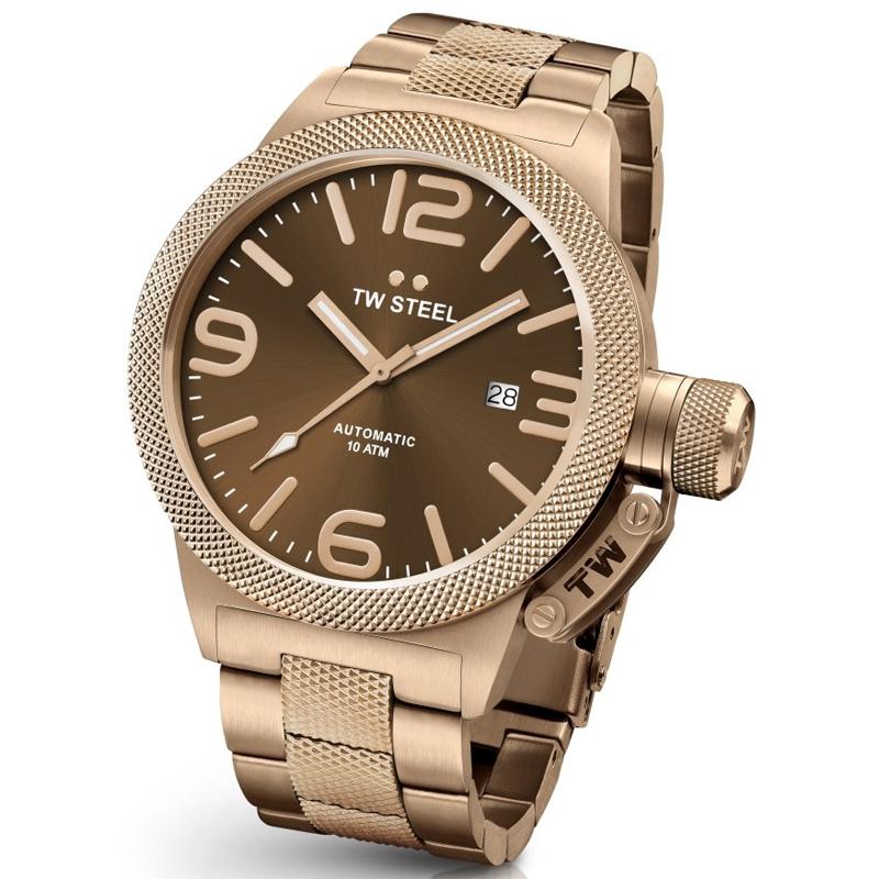 TW Steel CB195 Canteen Bracelet Automaat Horloge 45mm
