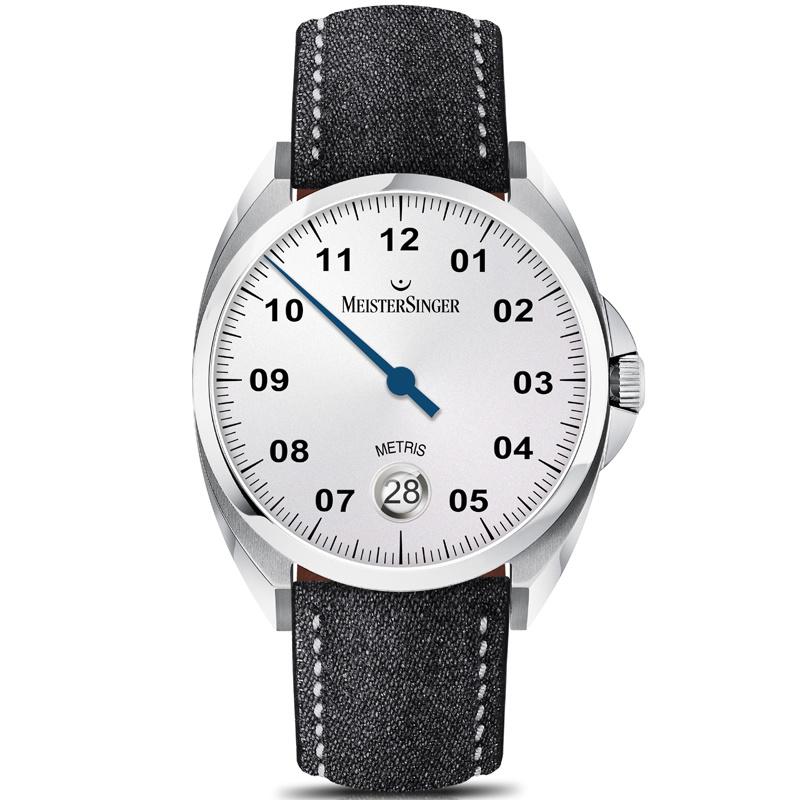 Meistersinger Metris Horloge Automaat Opaline Silver - 38mm