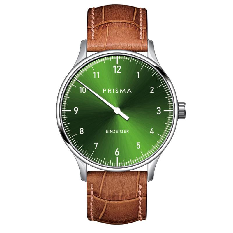 Prisma Design 'Einzeiger' Eenwijzerhorloge Groen 40mm