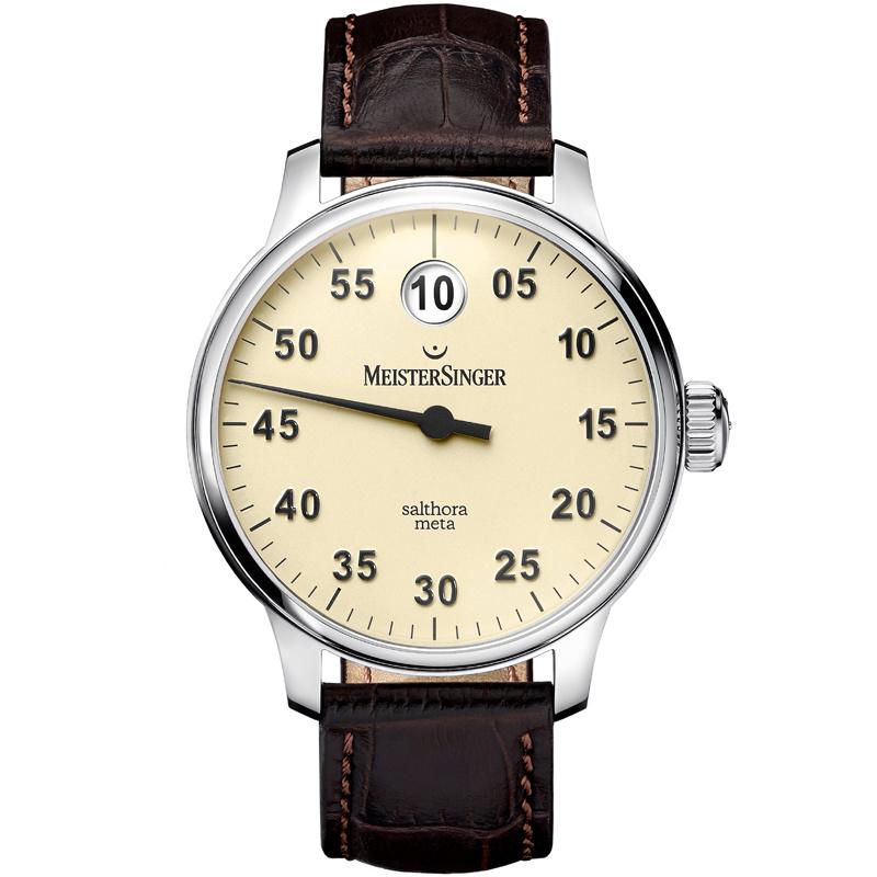 Meistersinger Salthora Meta SAM903 Horloge Automaat Ivoor - 43mm
