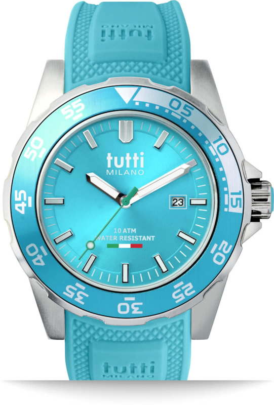 Tutti Milano Corallo Horloge Turquoise Large 42mm