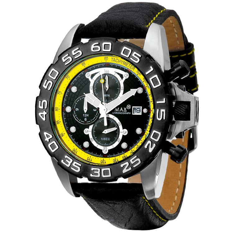 Max Watches GP Chrono Herrenuhr RVS 45mm
