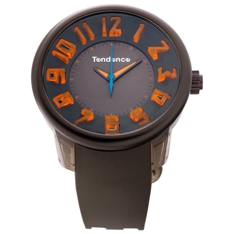 Tendence Fantasy Horloge Grey & Orange XXL