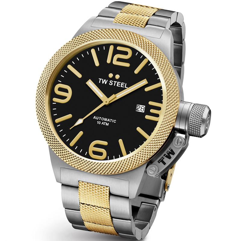 TW Steel CB46 Canteen Bracelet Automaat XL Horloge 50mm