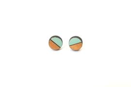 Ronde oorstekers munt- goud (9 mm)