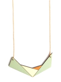 Geometrische halsketting munt- goud- natuurkleur