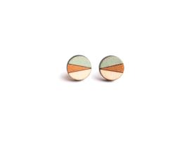 Ronde oorstekers munt- goud- natuurkleur
