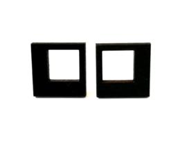Vierkante oorstekers zwart