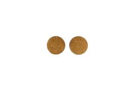 Ronde oorstekers goud (12 mm)