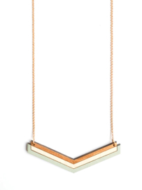 Halsketting goud- natuurkleur- munt