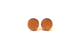 Ronde oorstekertjes - goud (9mm)
