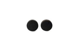 Ronde oorstekers - zwart (12 mm)