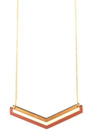 Halsketting goud- roest- natuurkleur