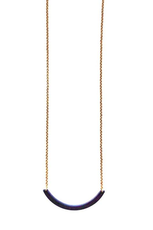 Halsketting boogje- donkerblauw