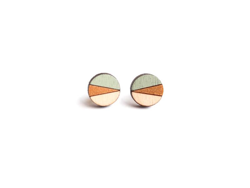 Ronde oorstekers munt- goud- natuurkleur (12 mm)