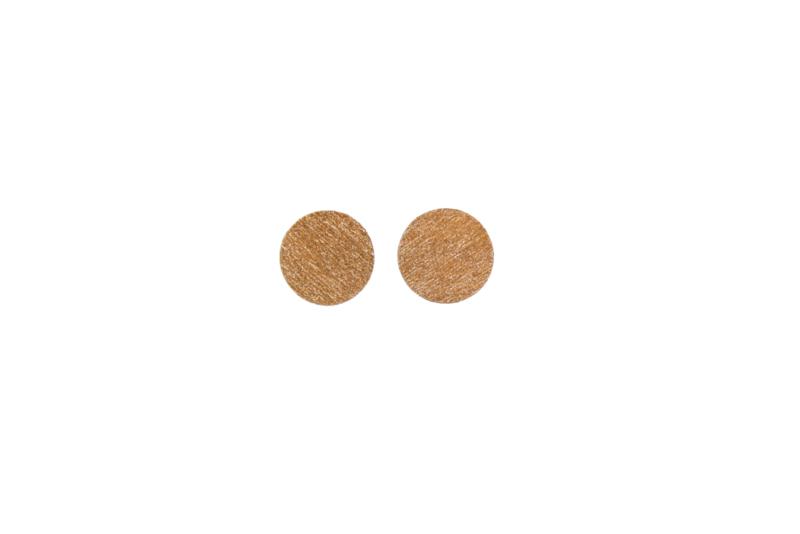 Ronde oorstekers rosé goud (9 mm)