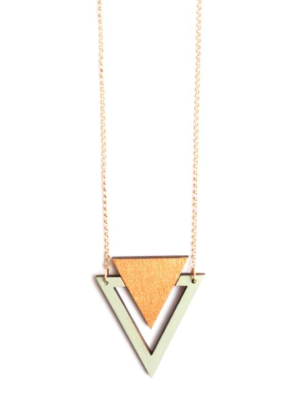 Driehoekige halsketting goud- munt