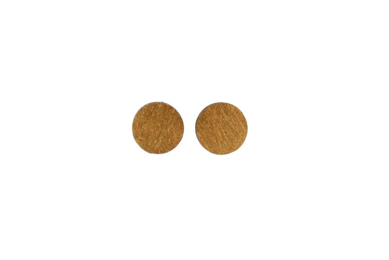 Ronde oorstekers goud (9 mm)