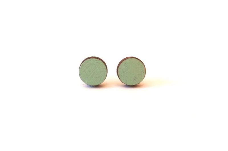 Ronde oorstekertjes munt (9mm)