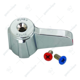 Euro Lever Handle w/ (2) Color Coded Screws