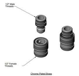 """Snelkoppeling 1/2""""NPT T&S Brass"""