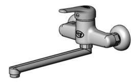Mengkraan elleboogbediening wandmontage  T&S I-line