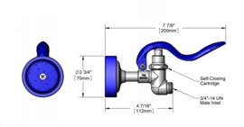 T&S Standard Spray Valve High Flow