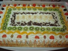 slagroom taart 100 personen