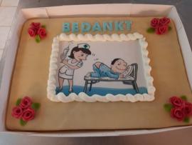 ziekenhuis / bedankt taart 30 personen