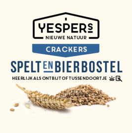 Yespers Crackers Spelt & Bierbostel (8 crackers 175gr)
