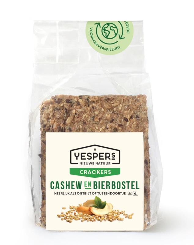 Yespers Crackers Cashew & Bierbostel (8 crackers 175gr)