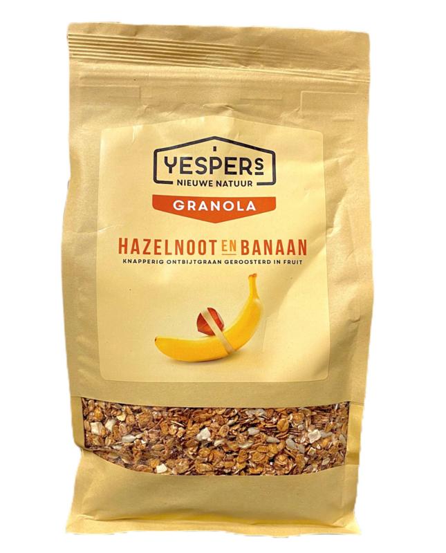 Yespers Granola Hazelnoot & Banaan 1kg