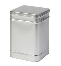 Groot theeblik zilver 1000 gram