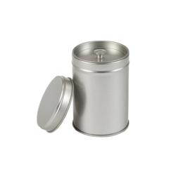 Theeblik zilver met binnendeksel klein
