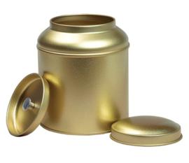 Theeblik goud met aroma deksel