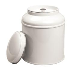 Theeblik wit met aroma deksel