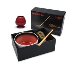 Matcha set Red in cadeaudoos