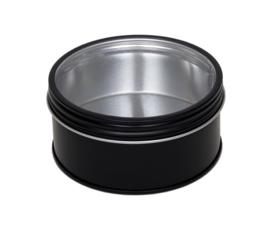Theeblik zwart met venster 50 gram