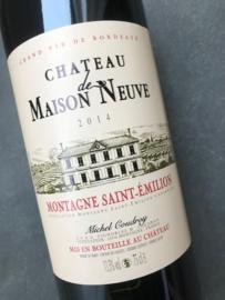 Montagne Saint Émilion Château  Maison de Neuve 2014