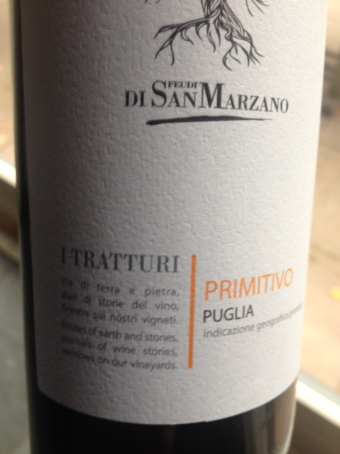 I Tratturi Primitivo 2017  Puglia IGP San Marzano