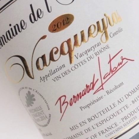 Rhône Vacqueyras 2012 - Domaine de l'Espigouette