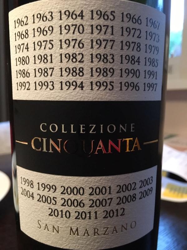 Collezione Cinquanta 2012+4 San Marzano