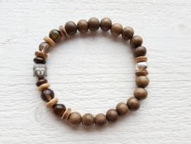 Armband bruin Buddha