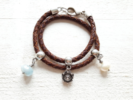 Zeeuwse knop armband met bedels